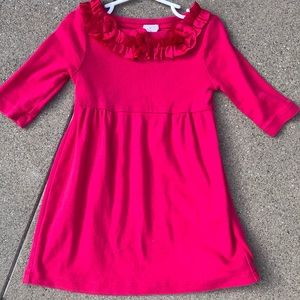 Hot pink crewcuts dress